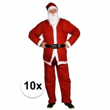 10x voordelige santa run kerstman kostuums voor volwassenen