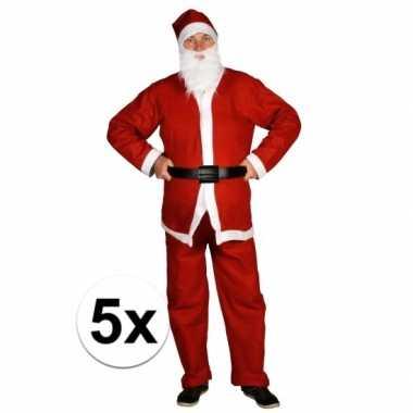 5x voordelige santa run kerstman kostuums voor volwassenen