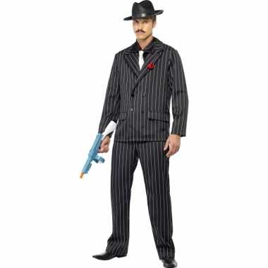 Al capone kostuum zwart voor heren