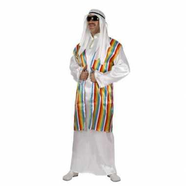 Arabisch kostuum met regenboog vest voor volwassenen
