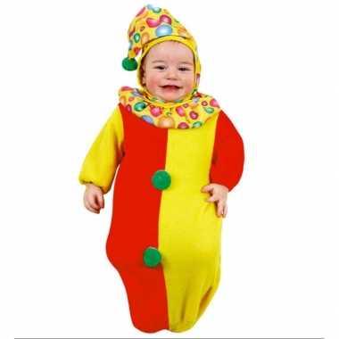 Baby kostuumje clown slaapzakje