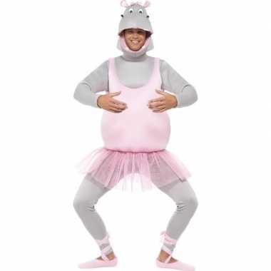 Ballerina nijlpaard kostuum voor volwassenen