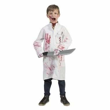 Bebloede doktersjas voor kinderen maat 128