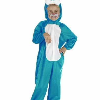 Blauw konijnen kostuum voor kinderen