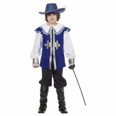 Blauw musketier kostuum voor kinderen