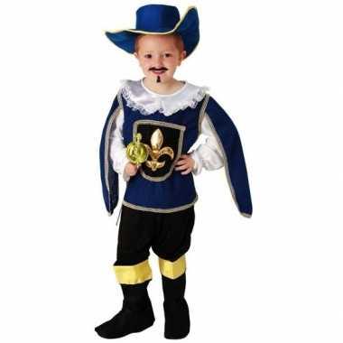 Blauw musketiers kostuum voor jongens