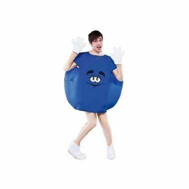 Blauw snoep kostuum volwassenen