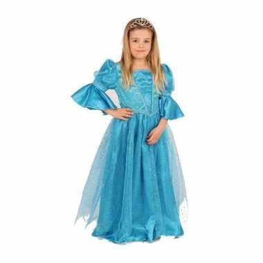 Blauwe prinses kostuum voor meisjes