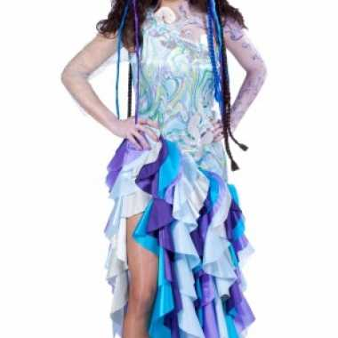 Blauwe prinses van de zee kostuum