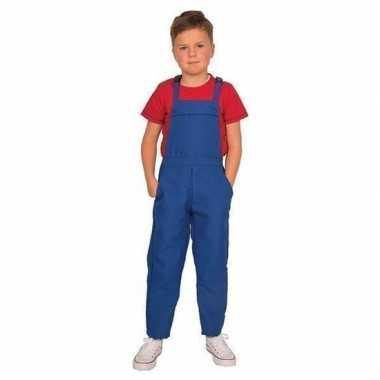 Blauwe tuinbroek/kostuuml voor kinderen