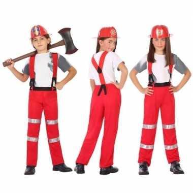 Brandweer kostuum / verkleed kostuum voor jongens en meisjes