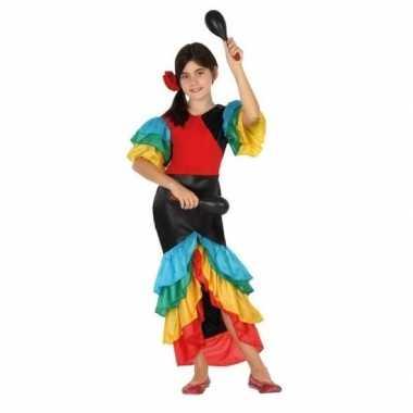 Braziliaanse samba/rumba danseres verkleed kostuumvoor meisjes