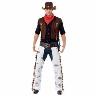 Bruin cowboy kostuum voor heren