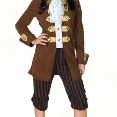 Bruin dames piratenkostuum