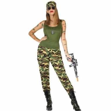 Camouflage soldaat verkleed kostuum/kostuum voor dames