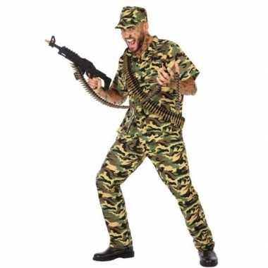 Camouflage soldaat verkleed kostuum/kostuum voor heren