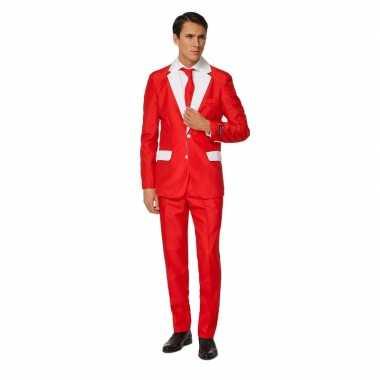 Carnavals heren kostuum kerstman kostuum print