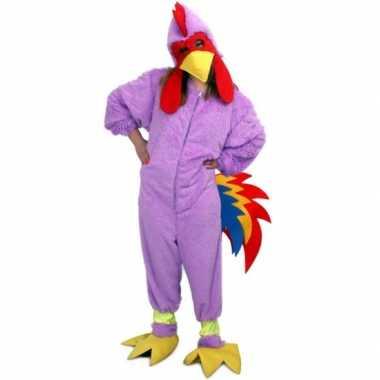Carnavals kostuum paarse kip