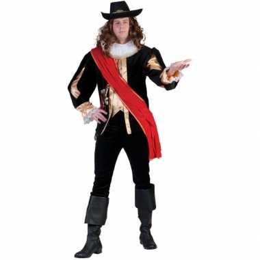 Carnavals musketierskostuum voor mannen