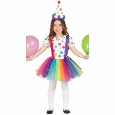 Carnavalskostuum clownsjurk voor kinderen