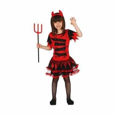 Carnavalskostuum duivel voor meisjes