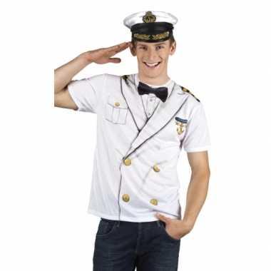 Carnavalskostuum kapitein heren shirt