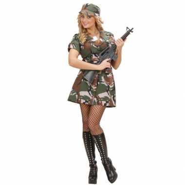Carnavalskostuum leger jurkje