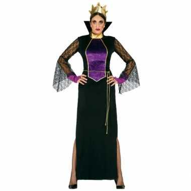 Carnavalskostuum luxe heksen jurk voor dames