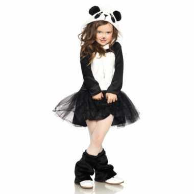 Carnavalskostuum panda jurkje voor meisjes