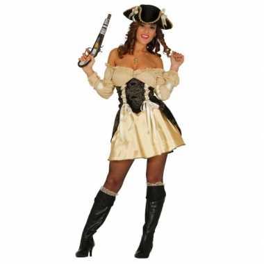 Carnavalskostuum piratenjurkje geel