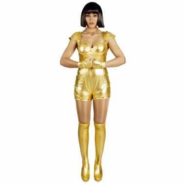Carnavalskostuum spacegirl goud voor dames