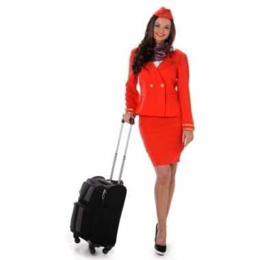 Carnavalskostuum stewardess rood