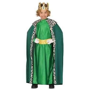 Caspar drie koningen/wijzen kerst verkleed kostuum