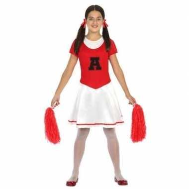 Cheerleader jurk/jurkje verkleed kostuum voor meisjes