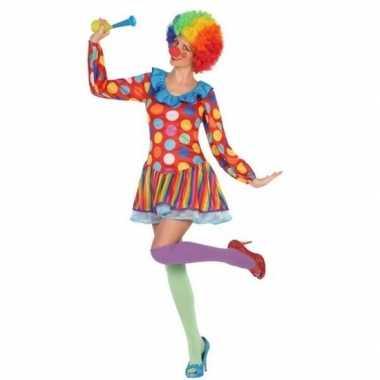 Clown verkleed jurkje/kostuum voor dames