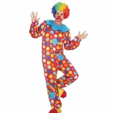 Clown verkleed kostuum/kostuum voor heren