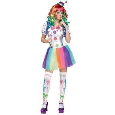 Compleet clowns kostuum paint voor dames