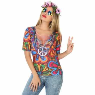 Compleet hippie kostuum voor dames