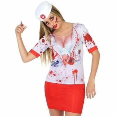 Compleet horror zuster kostuum voor dames