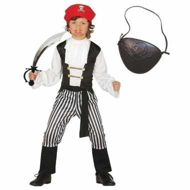 Compleet piraten kostuum maat 140 152 voor kinderen