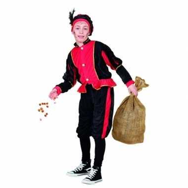 Compleet rood pieten kostuum voor kinderen