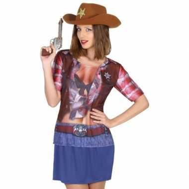 Compleet sheriff kostuum voor dames
