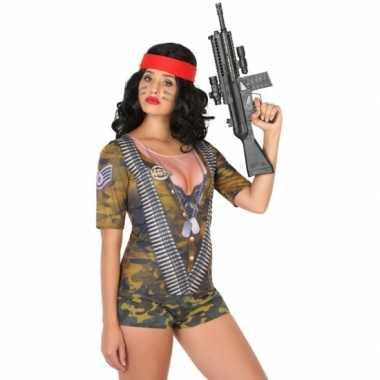 Compleet soldaat kostuum voor dames