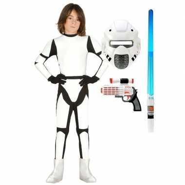 Compleet space trooper kostuum maat 110 116 voor kinderen