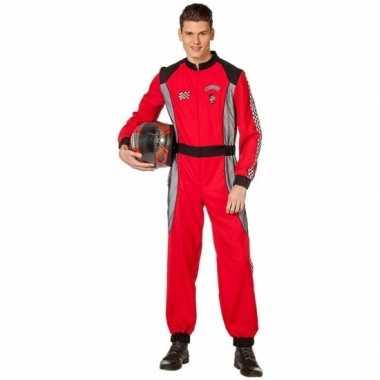 Coureur kostuum rood voor heren
