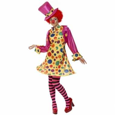 Dames clowns carnavalskostuum