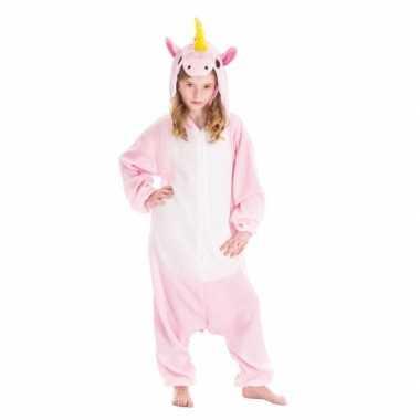 Dierenkostuum eenhoorn pinky onesie verkleed kostuum voor kinderen
