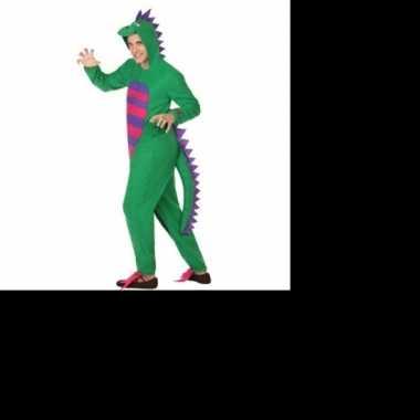 Dierenkostuum groene draak verkleedkostuum voor heren