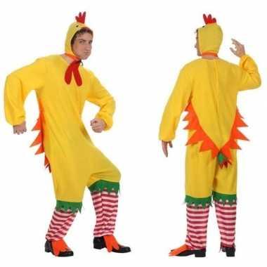 Dierenkostuum kip/haan/kuiken verkleed kostuum voor volwassenen