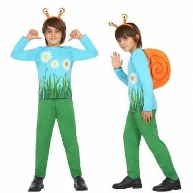 Dierenkostuum slak/slakken verkleed kostuum voor jongens